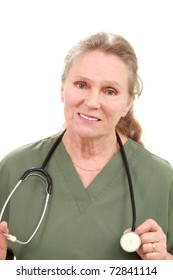 Mature medical professional