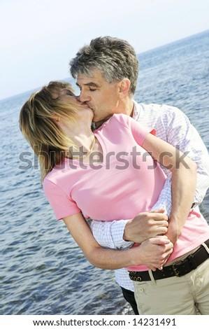 Mature kissing