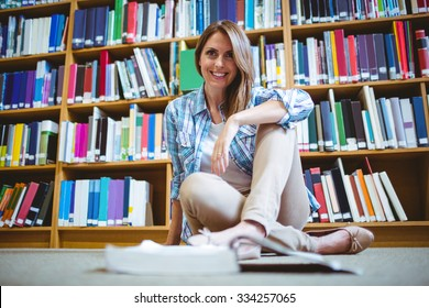 Mature student in the library the university