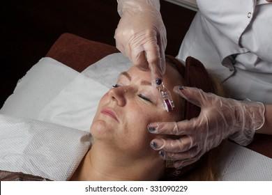 Mature woman at beautician