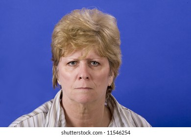 mature woman a bit angry