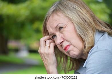 Mature Woman depressed