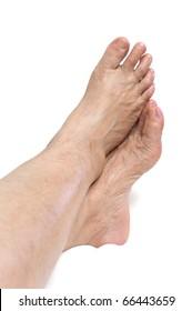 Mature woman foot