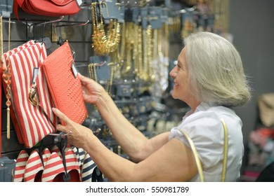 mature woman in mall