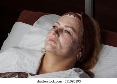 Mature woman at salon beauty