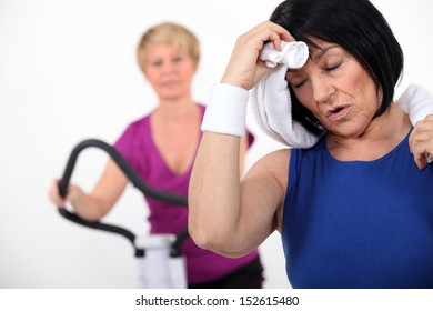 Mature women at the gym