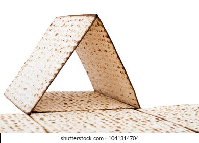 Matzah isolated white background passover pesach traditional food Jewish holiday