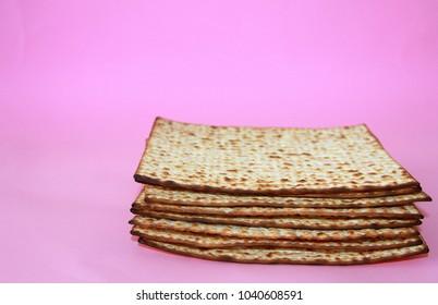 matzah on a pink background