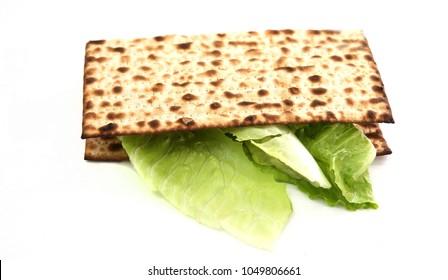 Matzah sandwich for jewish passover