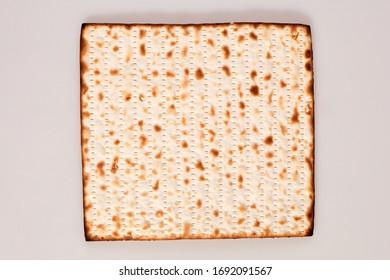 matzoh bread on grey studio background