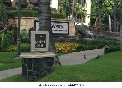 MAUI, HAWAII / USA – June 24, 2014: The Westin Maui Resort & Spa at Kaanapali in Maui, Hawaii