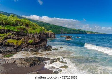 Maui Hawaii USA -rocky shore at south coast