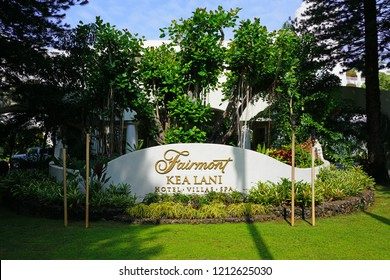 MAUI, HI -30 MARCH 2018- The Fairmont Kea Lani Maui Resort is a luxury hotel located in the exclusive Wailea area on the West shore of the Hawaiian island of Maui.