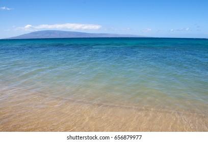 Maui Kaanapali beach, calm ocean, Hawaii