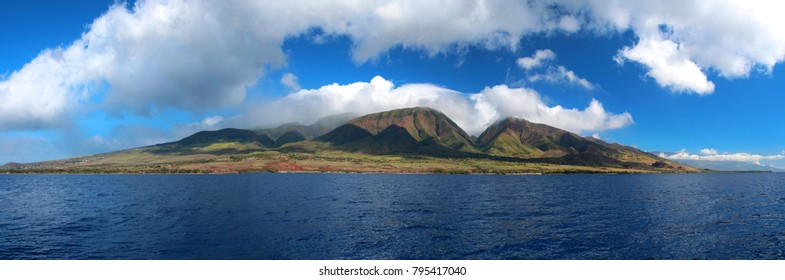 Maui as seen from a boat