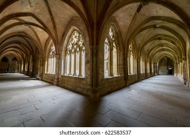 Maulbronn, Germany - April 14, 2017: Monestary Maulbronn from inside with the  cloister
