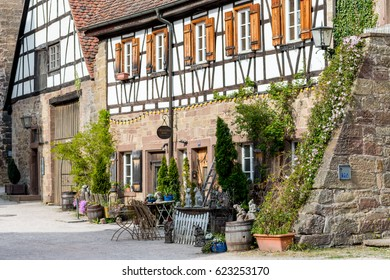 Maulbronn, Germany - April 14, 2017:  Village in front of the Monastery Maulbronn