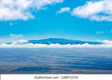Mauna Loa Mountain seen from Kohala Mountain Road