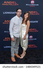 "Maurice Compte, Nikki Gates attend Lionstage's ""Angel Has Fallen"" Los Angeles Premiere at Regency Village Theatre, Westwood, CA on August 20 2019"
