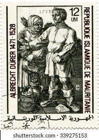 Mauritania - circa 1979: a postage stamp of the Islamic Republic of Mauritania circa 1979, dedicated to the German painter and graphic Albrecht Durer. Graphic masters