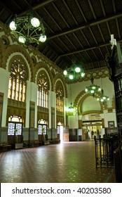 mauritian style railway station interior