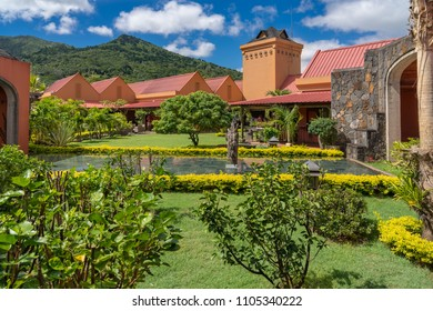 Mauritius, April 27, 2018: The Rhumerie de Chamarel is one of the rare destilleries still in activity cultivating its own sugarcane.