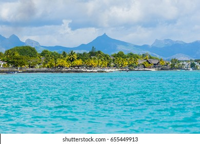 Mauritius beach. Tropical Mauritius island water & beach resort, Turtle Bay - Balaclava