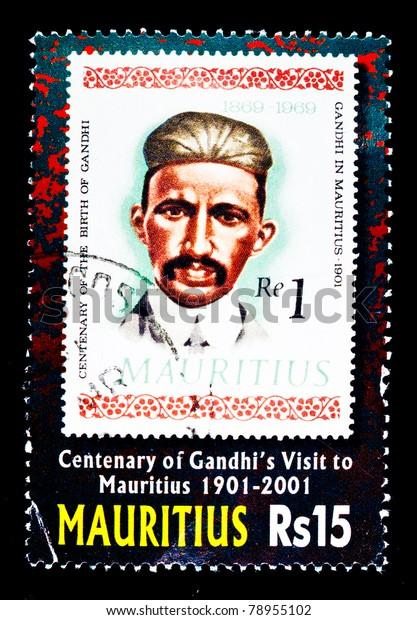 Mauritius Circa 2001 Stamp Printed Mauritius Stock Photo