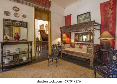 MAURITIUS, MAY 25, 2017. Interiors of an old colonial house Eureka that is currently a museum in Mauritius on May 25th 2017.