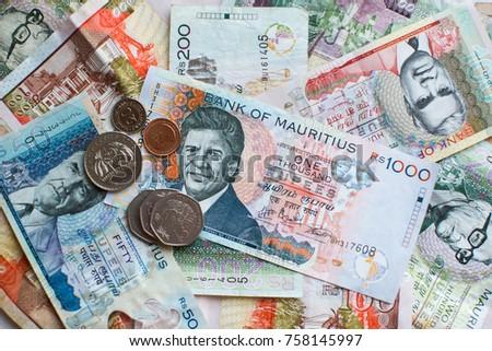 Mauritius Money Mauritius Rupee Mur Notes Stock Photo Edit Now