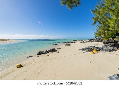 Mauritius tropical paradise beach of Ile Aux Cerf Beach island golf club on East Coast