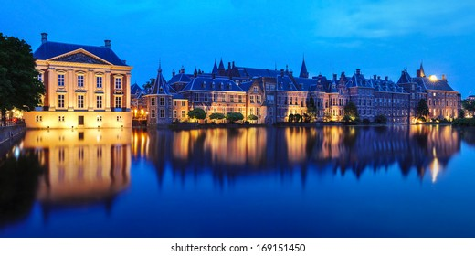 Mauritshuis Museum and Binnenhof Palace in The Hague (Den Haag), The Netherlands - Dutch Parlament buildings.