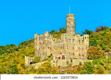 Maus Castle in the Middle Rhine Valley, Germany