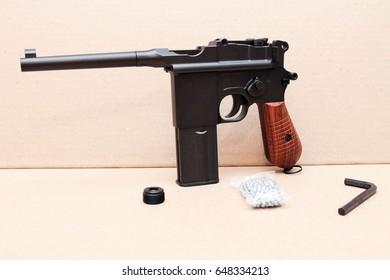Mauser pistol. Gun.