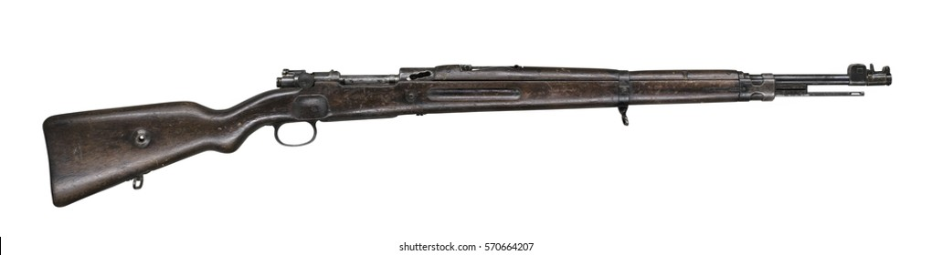 Mauser rifle isolated on white