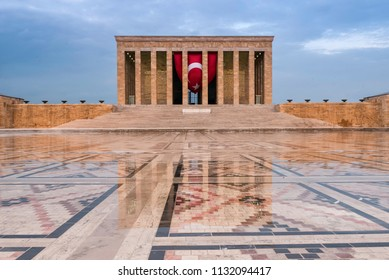 The mausoleum and final resting place of Mustafa Kemal Ataturk, the founder of Turkish Republic.