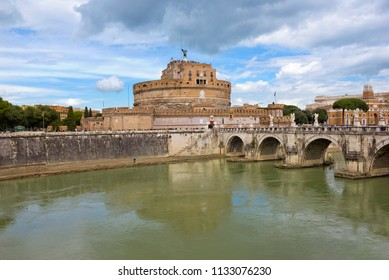 Mausoleum of Hadrian, or Castel Sant'Angelo in Rome, Italy