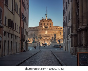 Mausoleum of Hadrian also known as Castel Sant Angelo (castle of the Holy Angel) in Rome, Italy