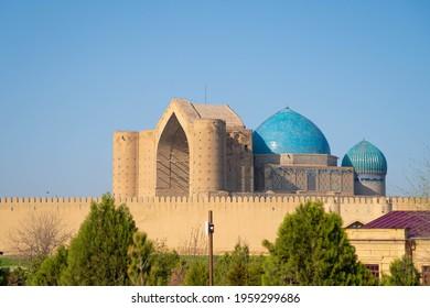 Mausoleum of Kozha Akhmet Yassavi, built by the decree of Amir Timur in Central Asia