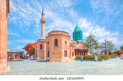 Mausoleum of Mevlana in Konya. Turkey.