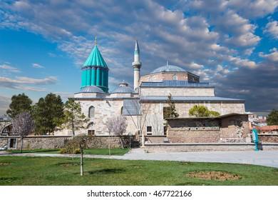 Mausoleum of Mevlana in Konya. Turkey.