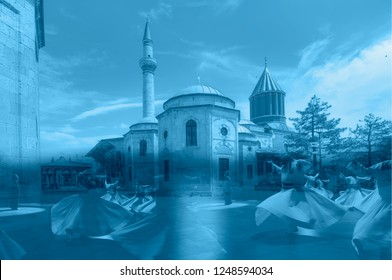 Mausoleum of Mevlana - Whirling Dervish sufi religious dance / Konya, Turkey