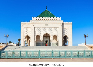 The Mausoleum of Mohammed V is a historical building located on the opposite side of the Hassan Tower on the Yacoub al-Mansour esplanade in 