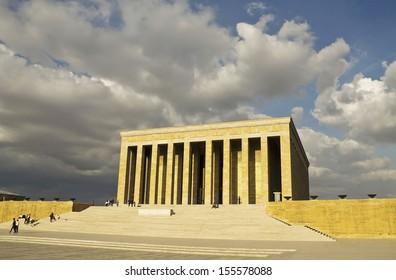 Mausoleum of Mustafa Kemal Ataturk who is founder of Turkish Republic, Ankara, Turkey.
