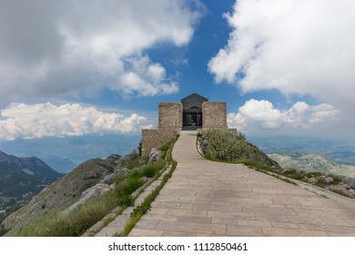 Mausoleum of Petar Petrovic Njegos, Lovcen National Park, in Montenegro