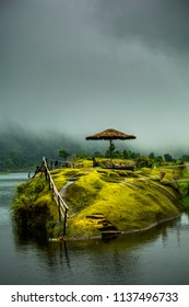 Mawlyngbna, Mawsynram, East Khasi Hills, Meghalaya, India Right called the scotland of the east, this image was taken on a cloudy day as i sat leisurely for fishing.