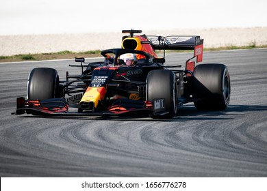 Max Verstappen, The Netherlands competes for Aston Martin Red Bull Racing at the F1 Winter Testing for the 2020 season at the Circuit de Barcelona-Catalunya, Spain