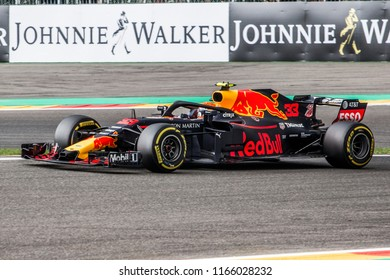 Max Verstappen in the Red Bull Racing RB14 during the 2018 Formula 1 Johnnie Walker Belgian Grand Prix 24 - 26 august in Spa - Francorchamps Belgium