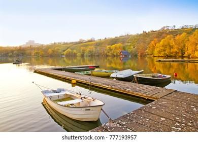 Max-Eyth-Lake in Stuttgart, Baden Württemberg, Germany