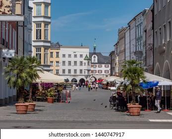 Max-Josefs-Platz in Rosenheim Bavaria Germany